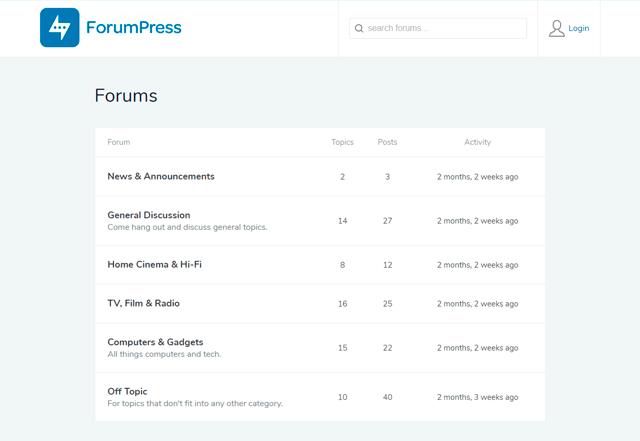 ForumPress - WordPress Forum Theme