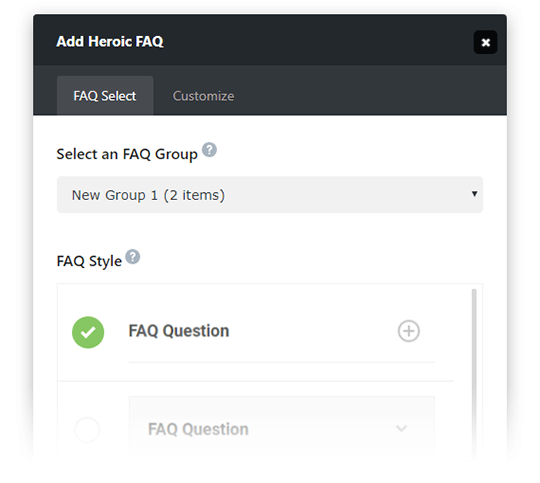 Heroic FAQs -Add Your FAQs Anywhere