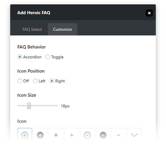 Heroic FAQs - Customize Your FAQs