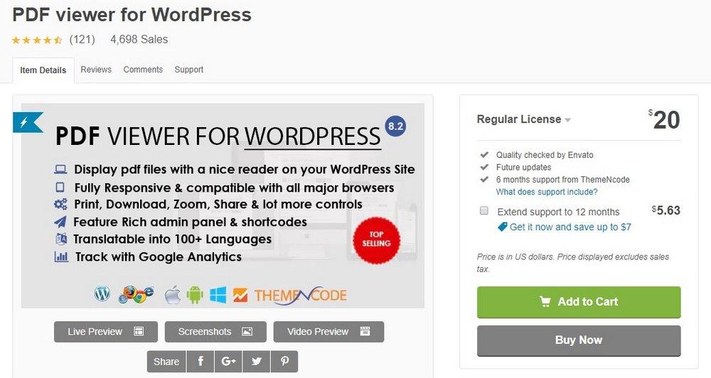PDF viewer plugin