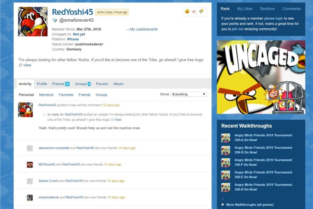 AngryBirdsNext bbPress forum examples