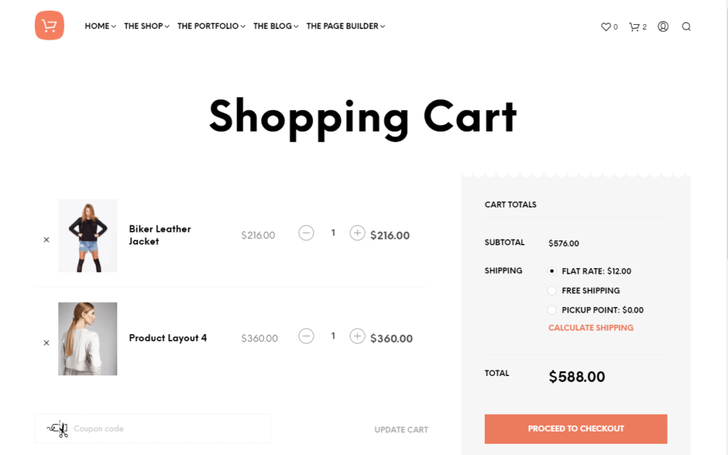 Shopkeeper cart page