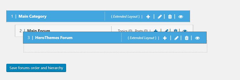 rearrange forums