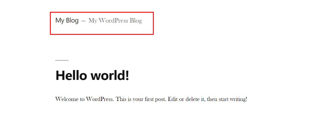 How To Change The Wordpress Site Title And Tagline