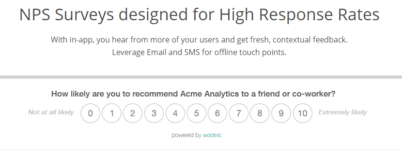 Wootric and Net Promoter Score