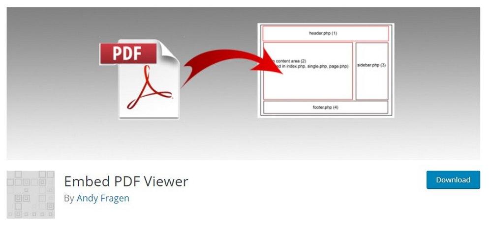 embed PDF viewer plugin
