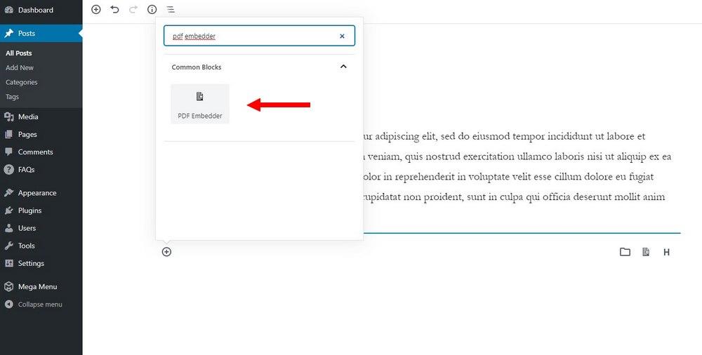 embed pdf in using plugin - 3