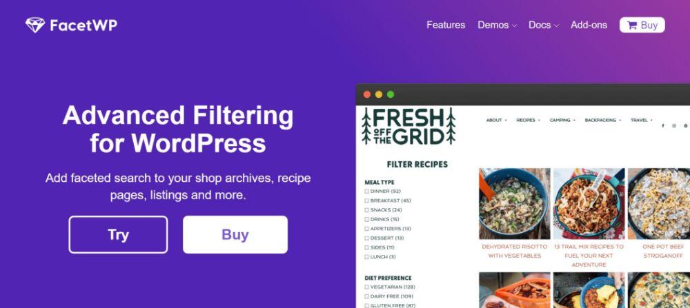 FacetWP WordPress plugin