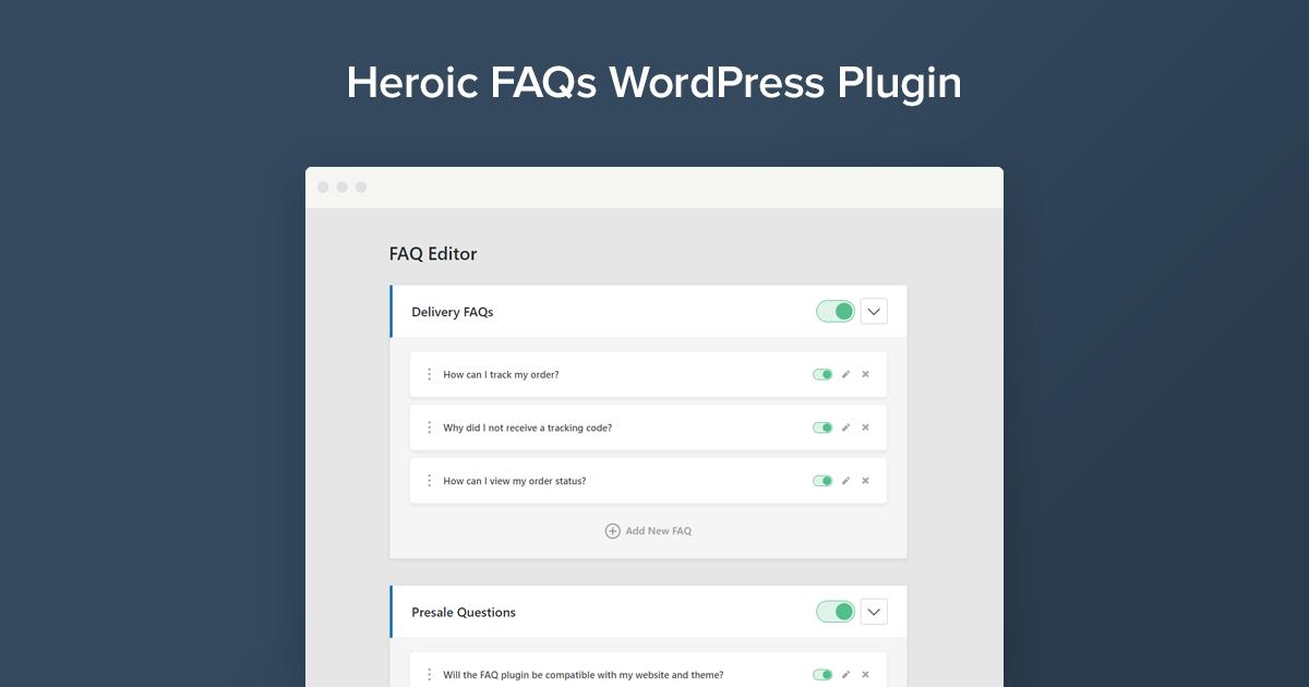 WordPress FAQ Plugin - Heroic FAQs WordPress Plugin