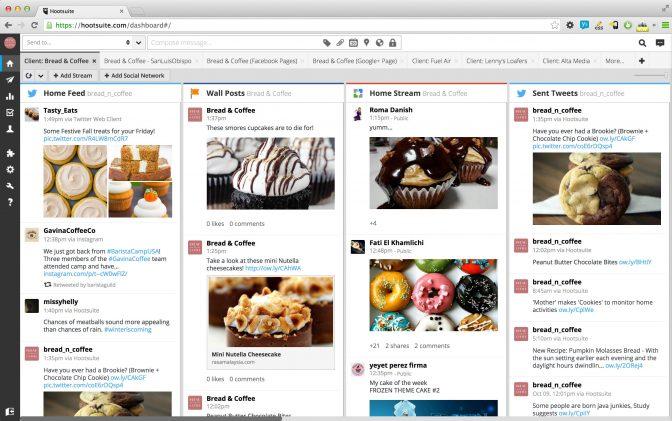 Hootsuite dashboard (via Hootsuite)