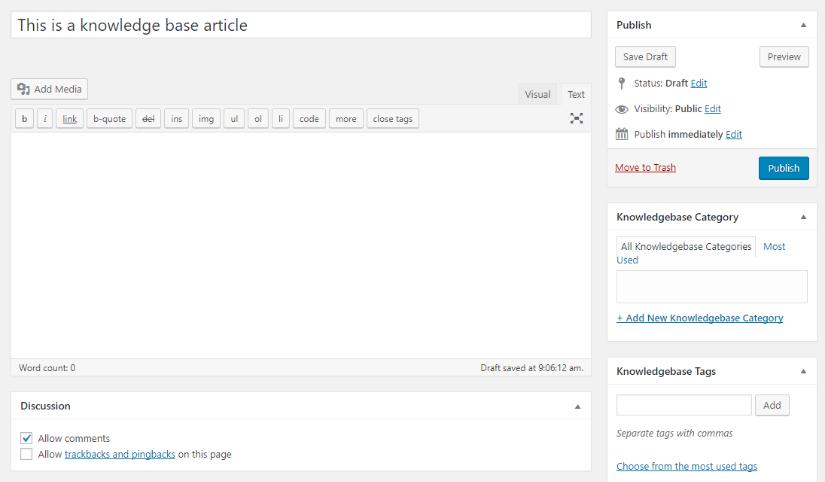 free wp knowledgebase plugin