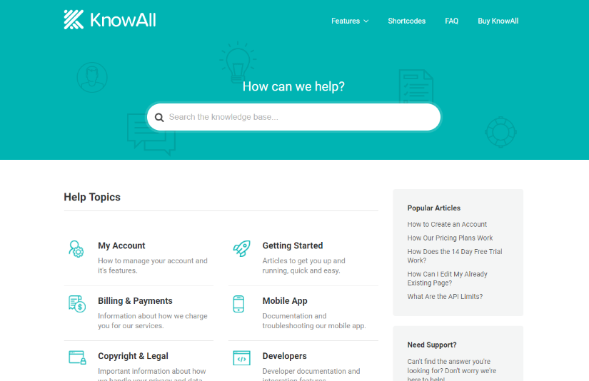 knowall wordpress knowledge base theme demo