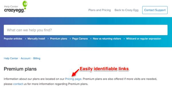 Easy link identification