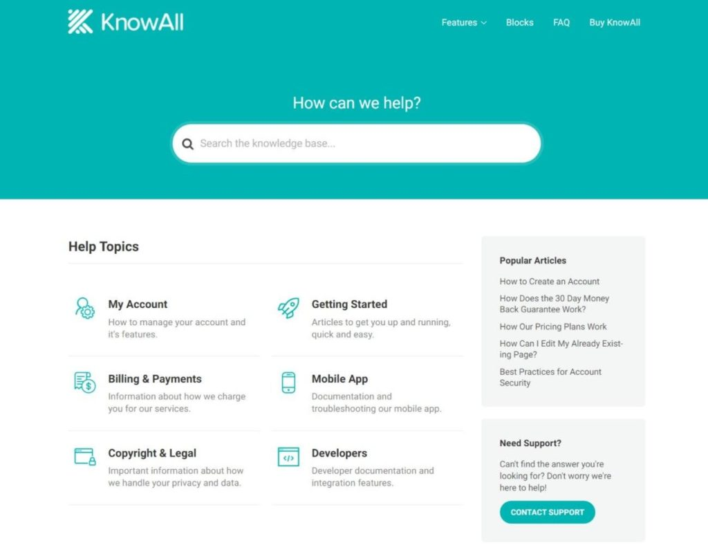KnowAll homepage