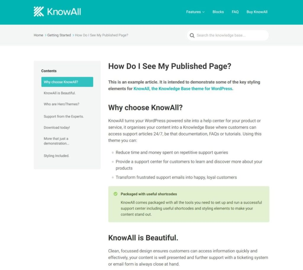KnowAll article