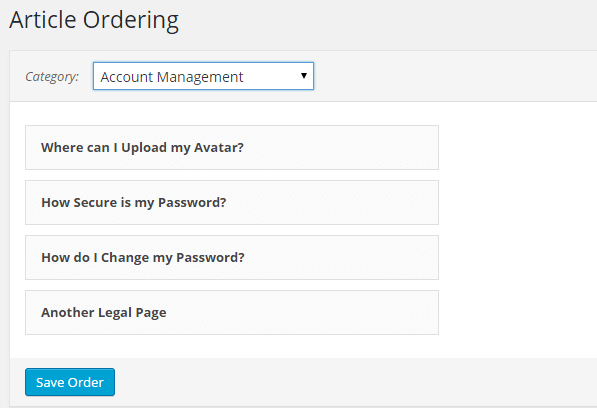 article ordering