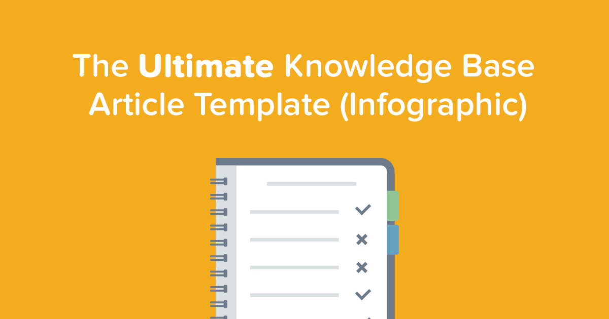 The ultimate knowledge base article template infographic pronofoot35fo Image collections