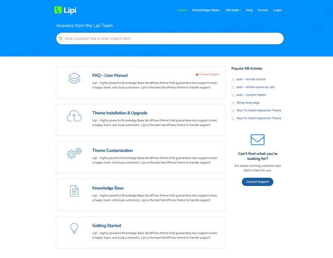lipi-wordpress-theme