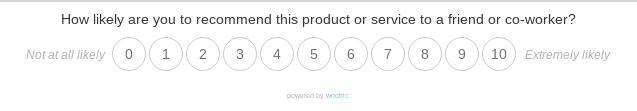net promoter score question
