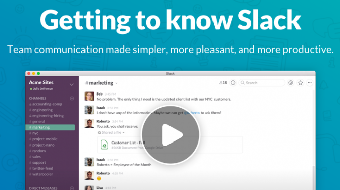 Excellently implemented video onboarding in action over at the Slack help centre.