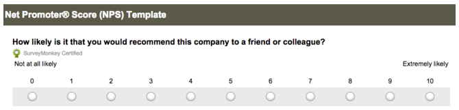 Services such as SurveyMonkey make working out your NPS a snap.
