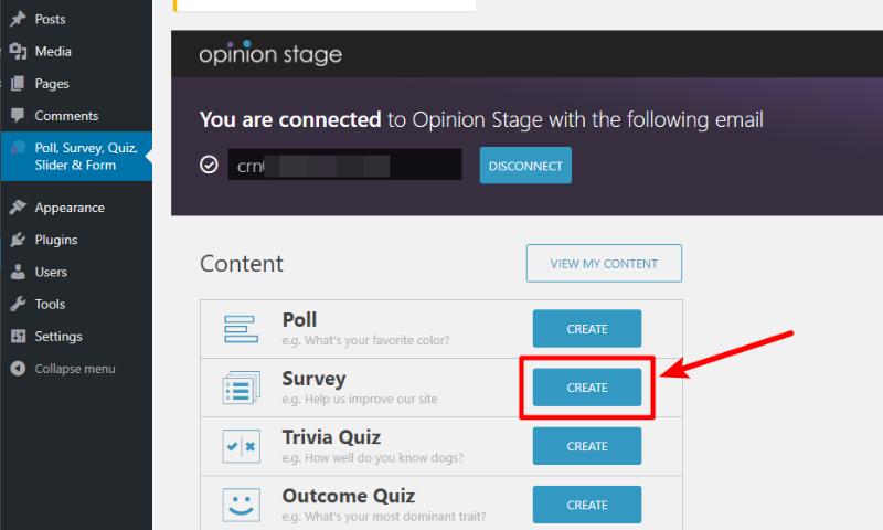 opinion stage create survey